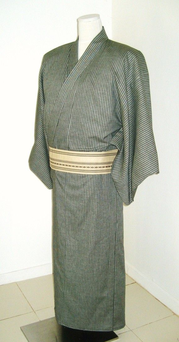Similar to what we sold; Mens KIMONO for Summer YUKATA Grey size L Ready to by Shantique