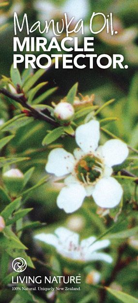 "Manuka Oil is stronger than tea tree oil, antibacterial, antioxidant, and more pleasant. ""It's everything tea tree oil wants to be."""