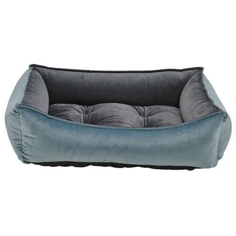 Bowsers Scoop Dog Bed - Harbour Blue/Ash (Microvelvet) | PupLife Dog Supplies