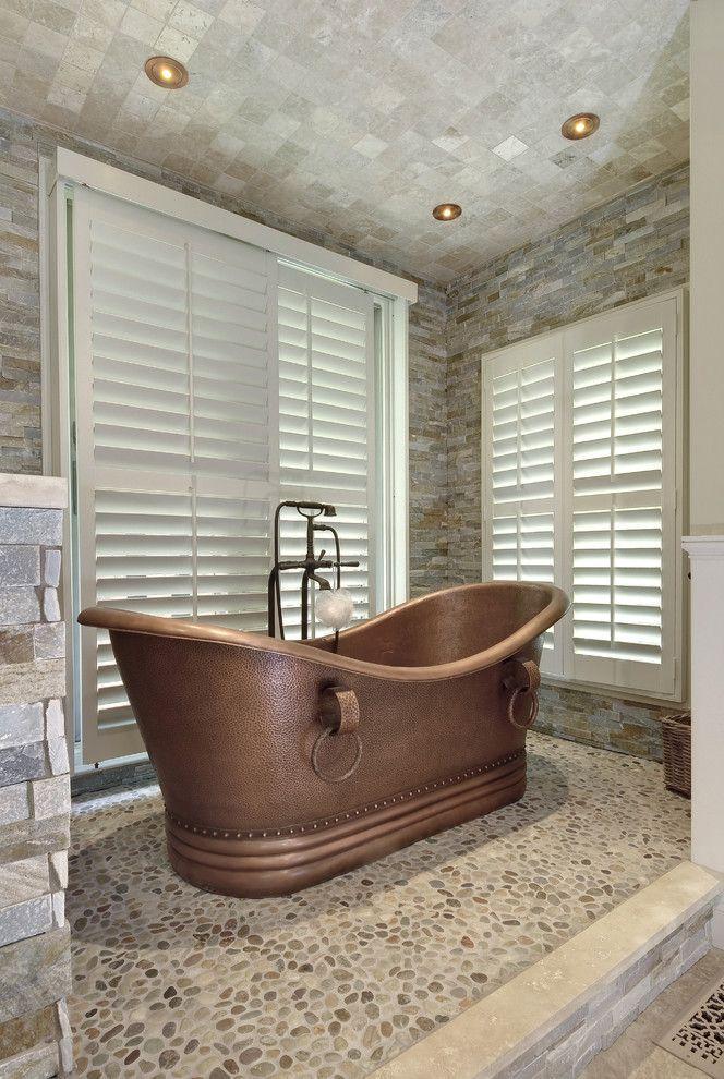 bathrooms with copper | Bathtub
