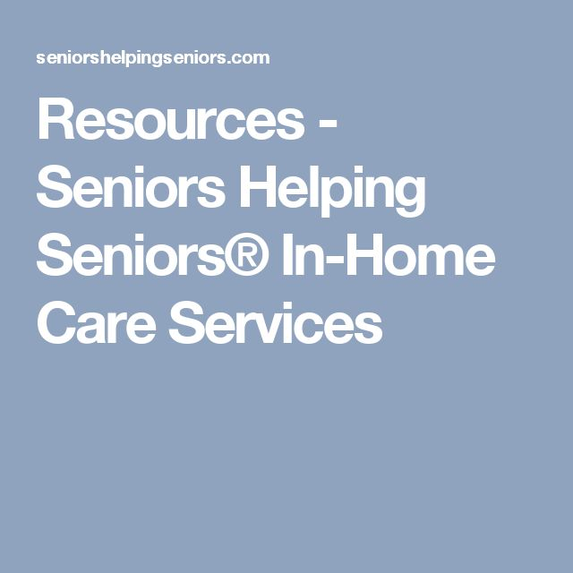 Resources - Seniors Helping Seniors® In-Home Care Services