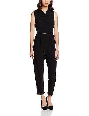 14, Black, Wallis Petite Women's Wrap Jumpsuits NEW