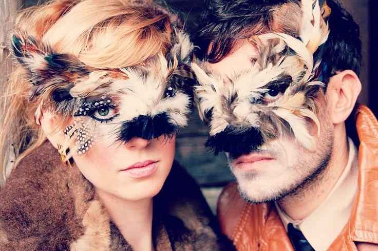 Wolf Masks Masks created by Alisa Ann Tetreault Clothing: Most Everything Vintage Model: Brett Farrow and Charlotte Deason Photographer: May Faith Photographer MUAH for Mr. Wolf: Brett Allred and Katelyn Carbijal of Beigeblond Salon Lady Wolf - Hair: Ashley Rauch Lady Wolf MUA: Kandie Smith  #wolf #wolfmask #wolfman #wolfwoman #wolfpeople #wolfphotograph #creativewolf #animalmask #creativeanimalmasks #creativephotography #vancouverwashington