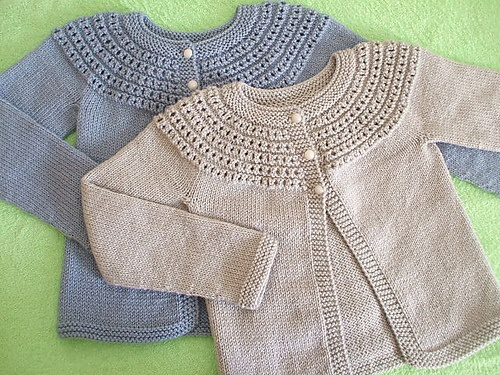 classic eyelet cardigans for girls. Ravelry: Project Gallery for Fresh-Picked Color 3/4-Sleeve Cardigan pattern by Sarah Hoadley
