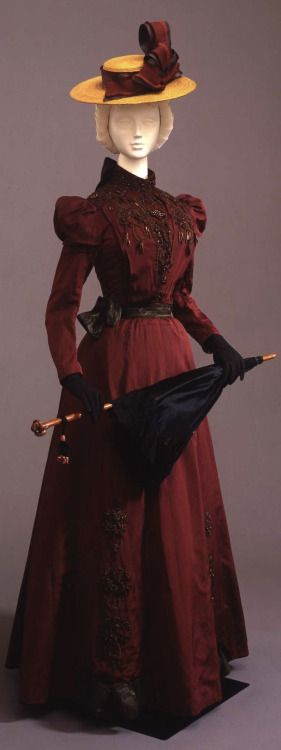 Two Piece Walking dress, Medium:Faille, Italian, 1900