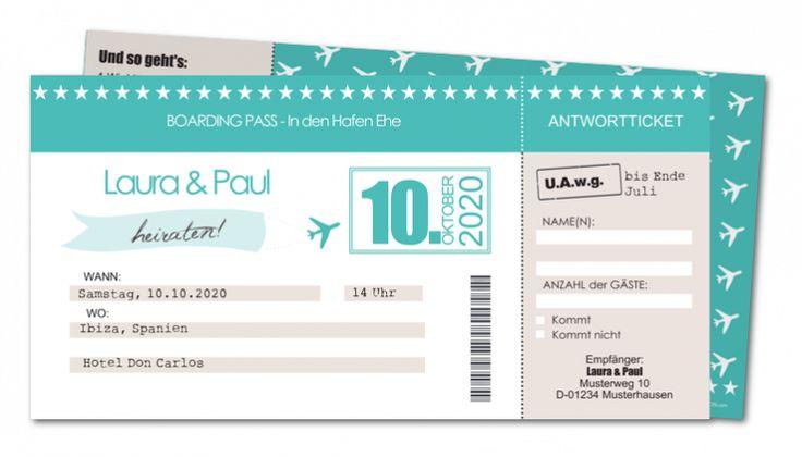 Einladungskarten Hochzeit Reisen │ Planet-cards.de