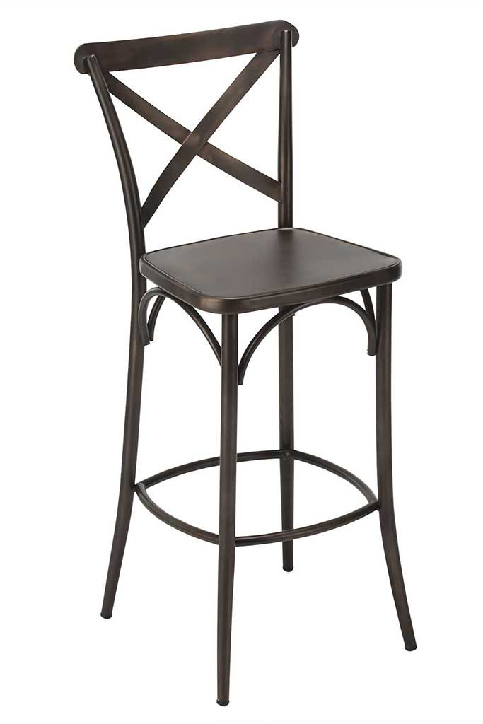 Xavier Steel Barstool With Antique Rust Finish   Bar U0026 Restaurant Furniture,  Tables, Chairs, And Bar Stools