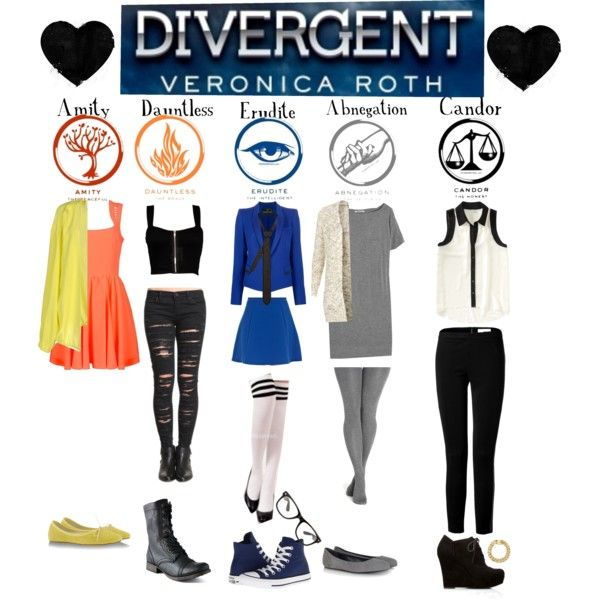 """Divergent Factions"" by mira-krishnaswamy on Polyvore"