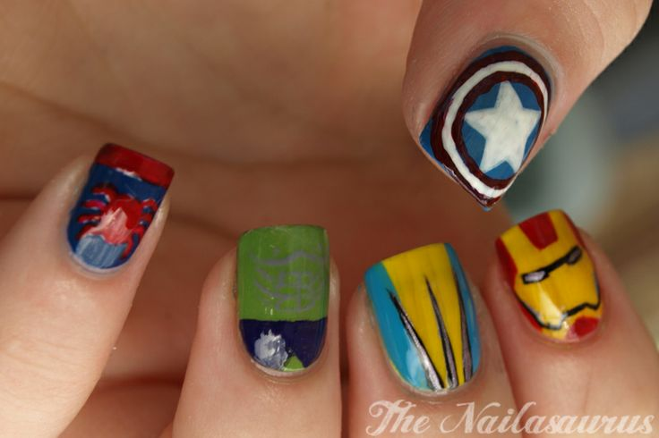 Marvel nail art!