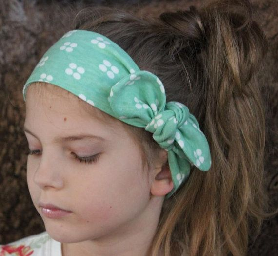 Baby Headband mint green Aria baby headwrap baby by ElleBelleBliss $11.50 AUD