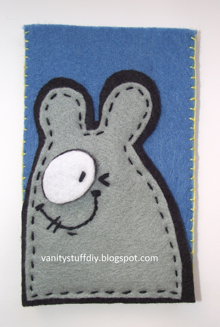 felt - phone case vanitystuffdiy.blogspot.com
