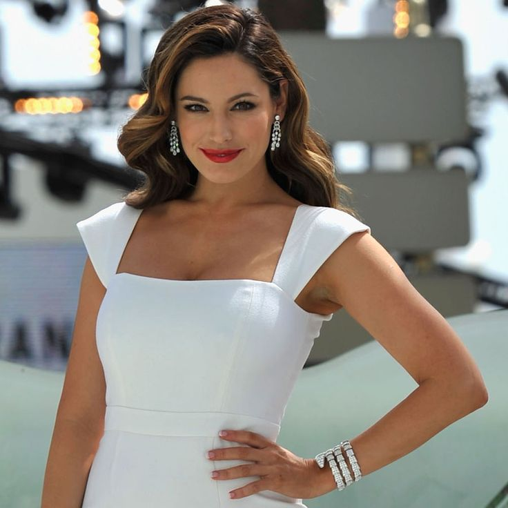 Kelly Brook wears Bulgari earrings and bracelet at the Cannes Film Festival