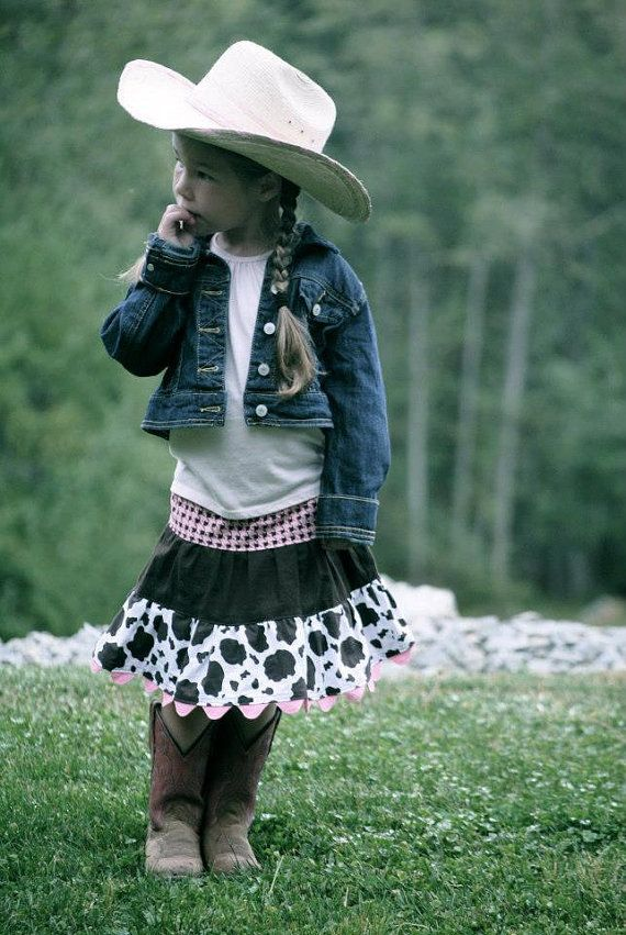 Western Cowgirl Twirl Skirt Pink Chocolate and by KelleenKreations, $25.00!! The cutest skirt!!