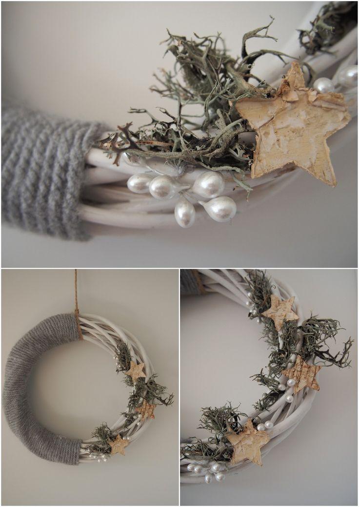wieniec świąteczny / christmas decoration, chrobotek reniferowy /reindeer moss