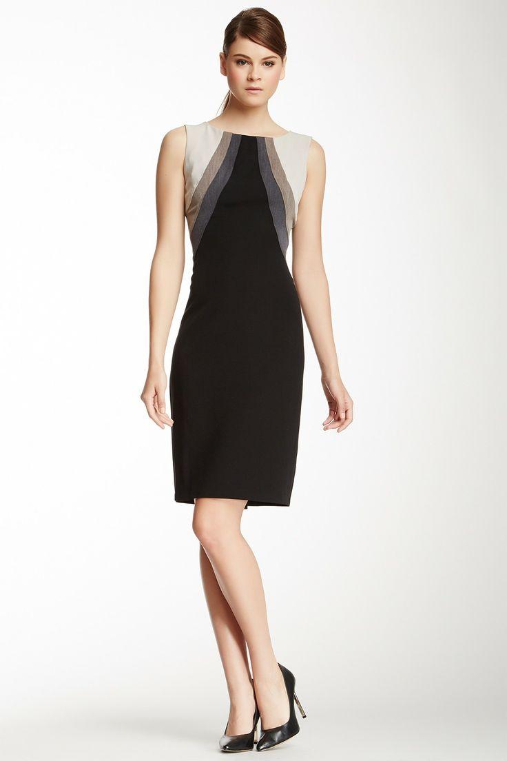 Black dress office - Non Specific Nine West Paneled Colorblock Sheath Dress On Hautelook