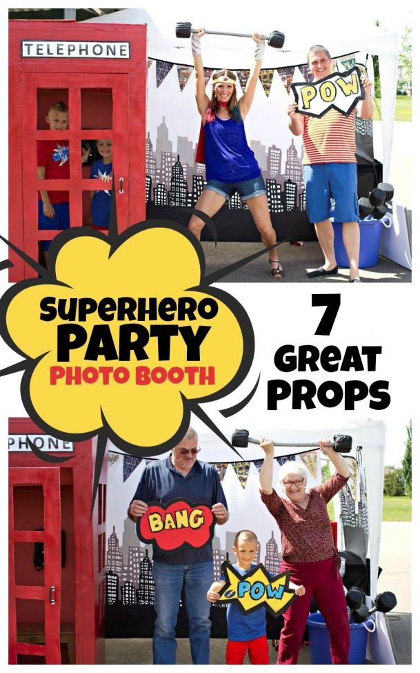 Superhero Birthday Party Photo Booth - Spaceships and Laser Beams