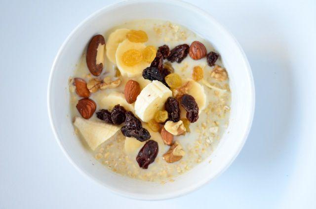 5 lekker en gezonde ideeen voor een havermout ontbijt.