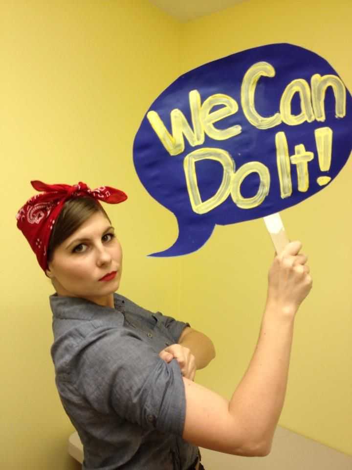 I felt like bragging about my awesome Halloween costume ;) Rosie the Riveter!