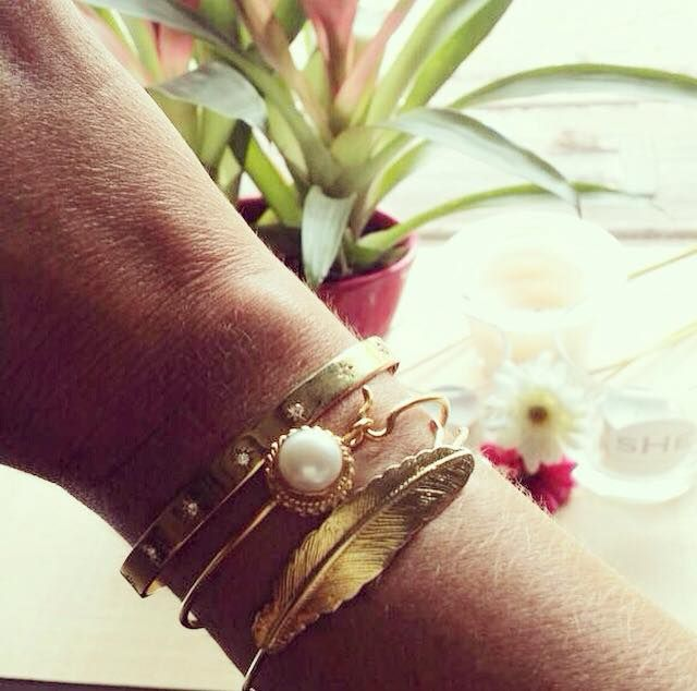 Pulseiras de SHE Handmade Jewellery all in silver gold-plated. +info: joias.she@gmail.com