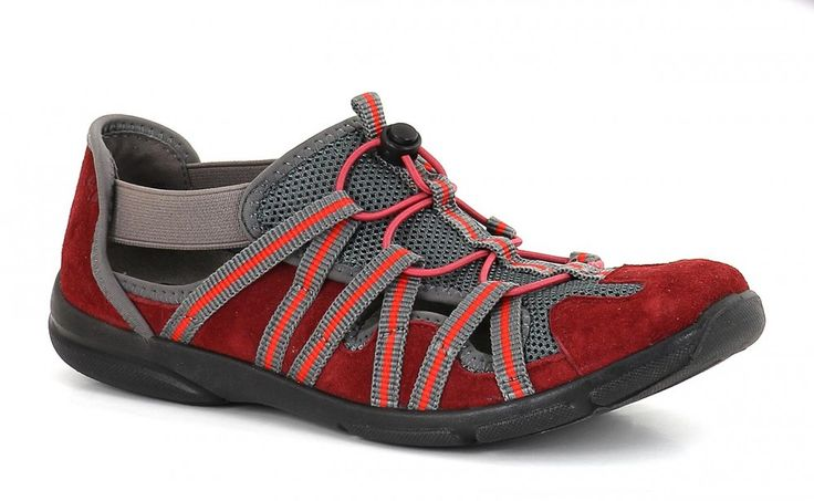 Romika Traveler 01 women's shoe.  Lightweight rubber soles and a toggle closure keep feet happy.