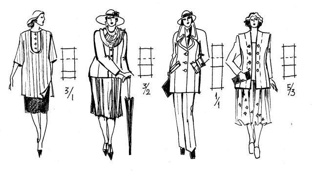 Индивидуальный стиль в одежде (Конспект лекций): 3.3. Выбор композиционных и конструктивных решений одежды в зависимости от размеров и формы...