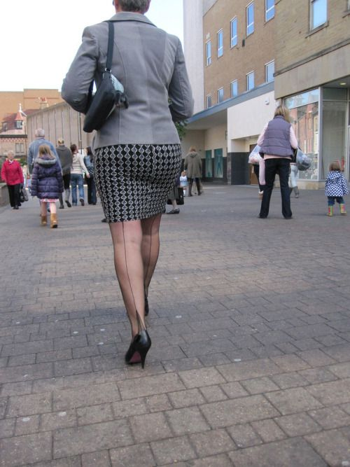 Jan burton mature stockings and high heels