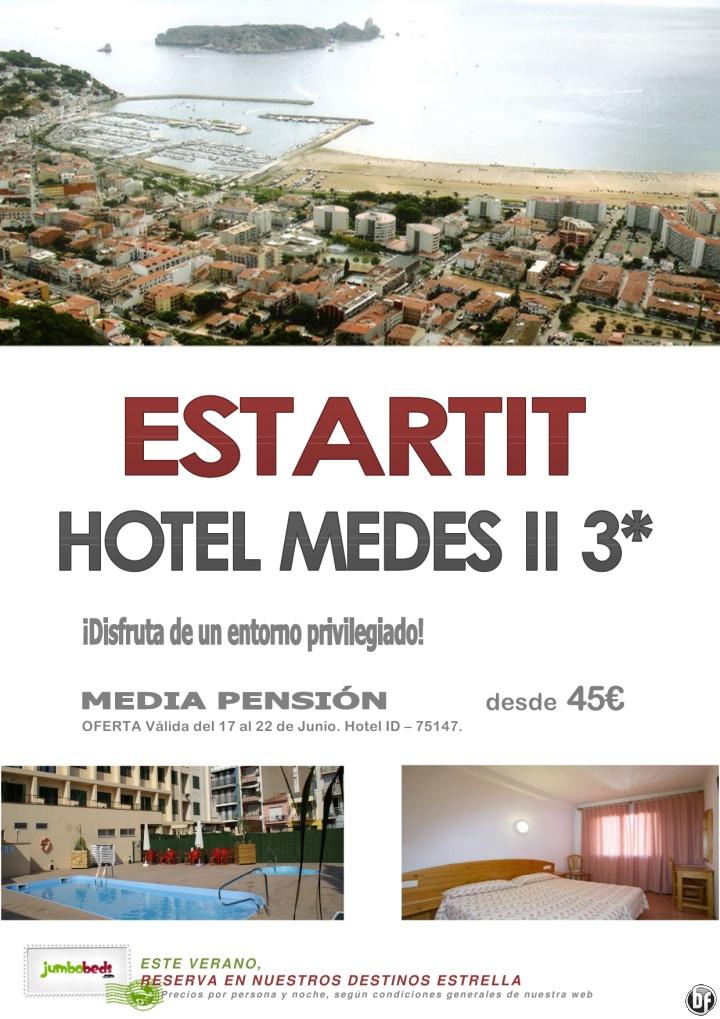 ¿Hotel familiar en un entorno privilegiado? ¡¡Medes II 3* dsd. 45 pax/día en MP - ESTARTIT!! - http://zocotours.com/hotel-familiar-en-un-entorno-privilegiado-medes-ii-3-dsd-45-paxdia-en-mp-estartit/