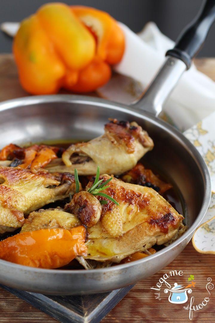 Ecco la ricetta del #pollo ruspante con #peperoni più buona che ci sia!    #ricetta