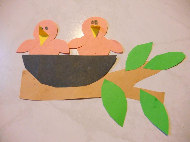 hnízdo s ptáčky birds