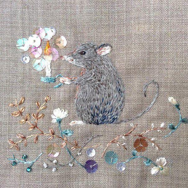 Magic embroidery Mayuka Morimoto Oyanagi - Fair Masters - handmade, handmade
