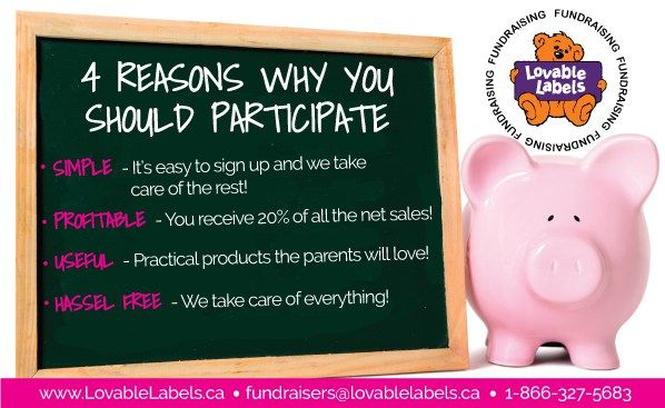 Need a Fundraiser for your childs school!  Check out @lovablelabels Fundraising program!