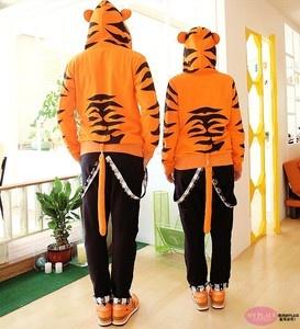 Toradora Tiger x Dragon Tiger Costume Hoodie with Ears Tail Monster Punk Jacket | eBay