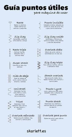Guía de puntadas para máquina de coser – Little Post                                                                                                                                                     Más