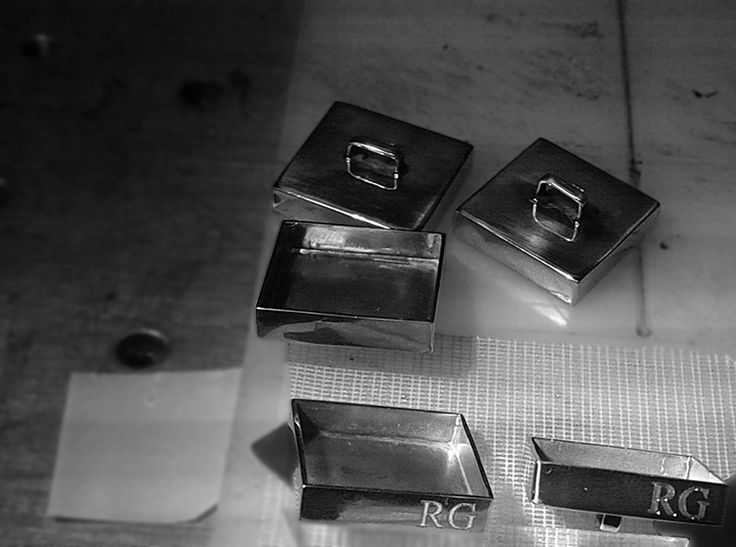 Silver 925 buttons engraved, making of http://ruxandragheorghe.com/