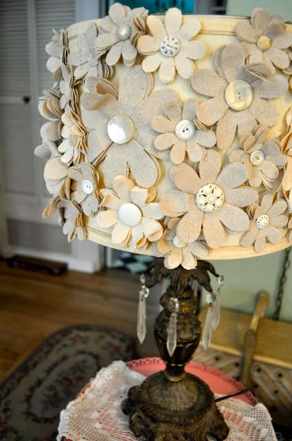 Blessed Serendipity: funky lampshade (doing this to all the lamps at work  . . . you have been warned.)