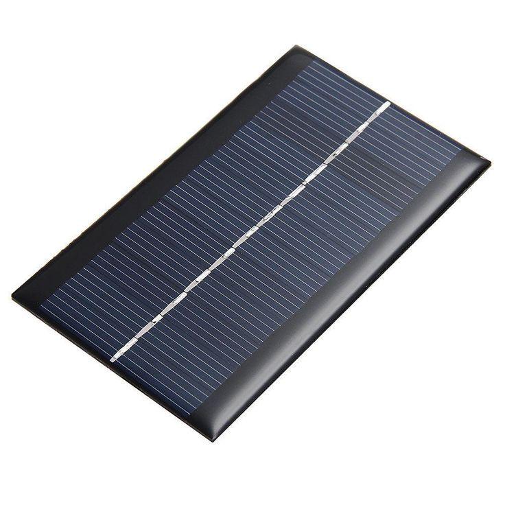 ミニ6ボルト1ワット太陽光発電パネルソーラーシステムdiy用バッテリー携帯電話充電器portableソーラーパネル