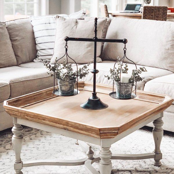 Amelia Natural Stonewash Square Coffee Table With Images
