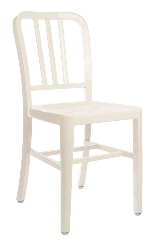 Replica Emeco US Navy chair in white powdercoated aluminium