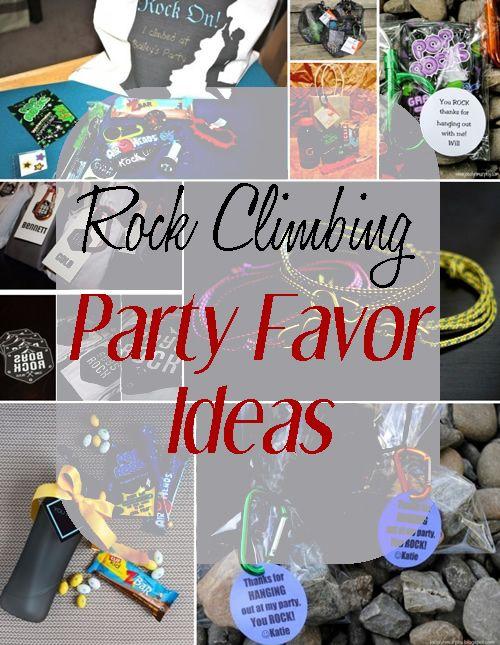 Rock Climbing Party Favor Ideas
