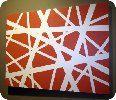 easy and looks great: Canvas Ideas, Painters Tape, Crafts Ideas, Simple Canvas Art, Diy Canvas Art, Canvas Wall Art, Criss Crosses, Diy Wall, Canvases
