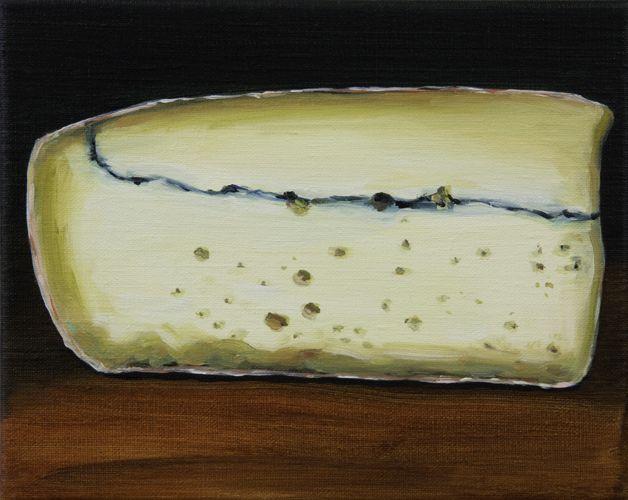 Cheese, oil on linen, Sally Kindberg, 2013