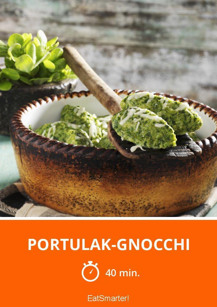 Portulak-Gnocchi