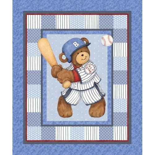 {Wholesale} Billy Bear, Billy Bear at Bat, sp43376-1600715 Panel, Fabric Catalog, Needlecraft, Inc.