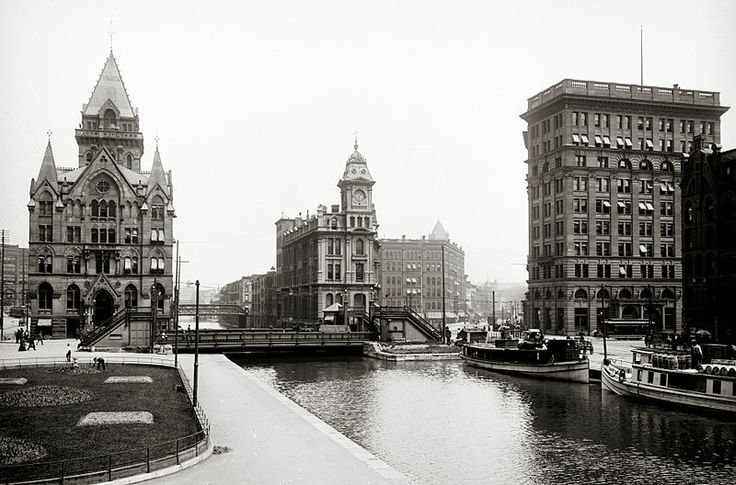 This was the way downtown Syracuse, NY looked before they filled in the Erie Canal.