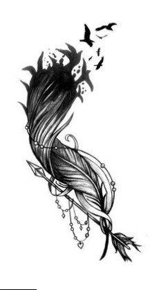 Feather Flock Arrow ~ Tattoo Design