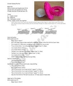 gehaakte speen - crochet pacifier (free pattern in English, Dutch and German).