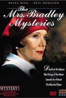 'The Mrs Bradley Mysteries' British TV drama series (1998-1999) based on the character created by detective writer Gladys Mitchell in the 1920s. Diana Rigg stars as a socialite,always on the road, sassy,even provocative,an arrogant suffragette.Her sharp sense of observation & deduction gets the better of the criminals every time w/ the assistance of her handsome chauffeur, who drives her classic Rolls. The dramatic asides from Mrs Bradley to the camera,highlight the comedic elements of the…