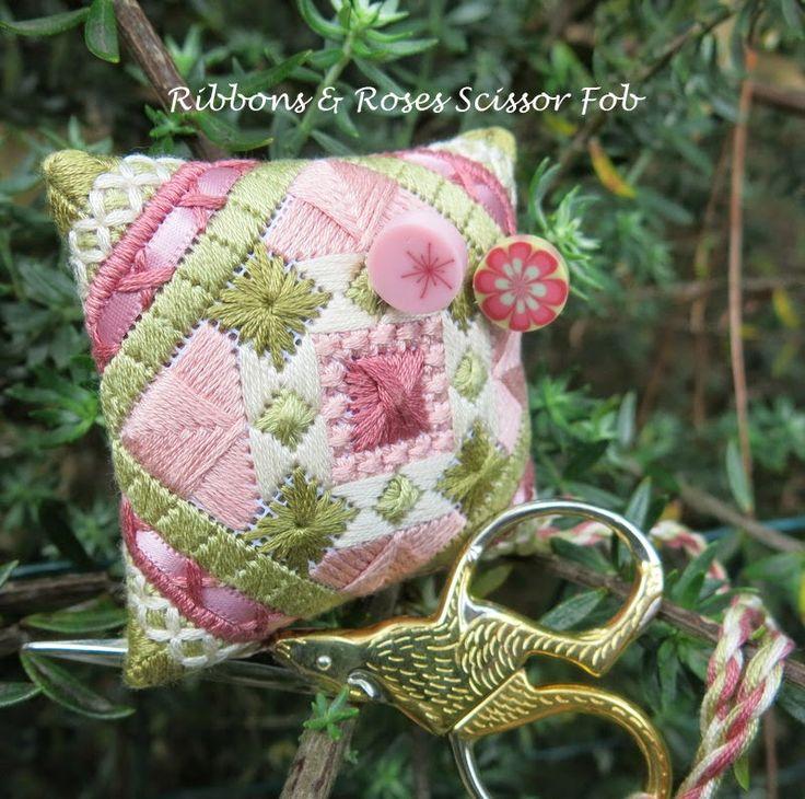 Ribbons and Roses Pincushion