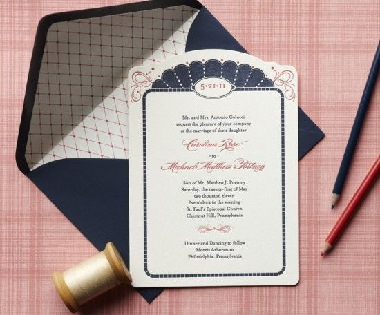 The Claremont Collection, a wedding invitation line from Curious & Co. Creative with letterpress printing by Cleanwash Letterpress.