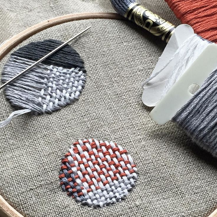 12/100 for #100daysofcirclestitch. Darning samplers. . . . #the100dayproject #darning #mending #slowstitching #needlework #dmcthread #creativesclub100days #makedoandmend #contemporaryembroidery #modernembroidery by kristinaxtman